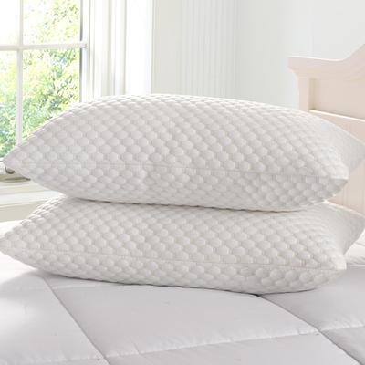 枕芯 超柔水立方针织棉羽丝绒枕头枕芯(48*74) 水立方定型枕