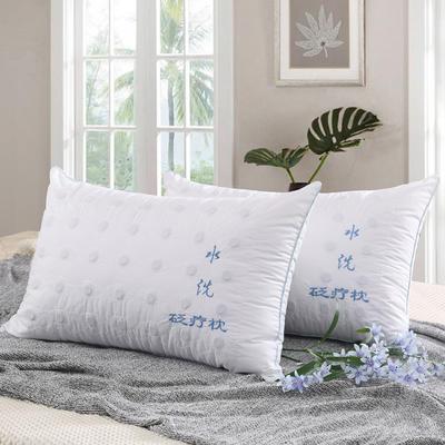 全棉绗绣磁疗水洗砭疗枕头枕芯(48*74) 水洗砭疗枕