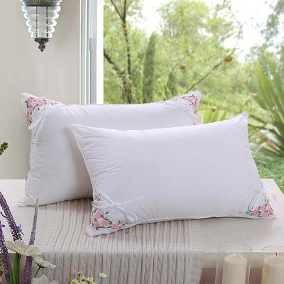 全棉枕芯 羽丝绒单人枕头茉莉花香包枕头枕芯(48*74) 茉莉花香包枕