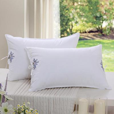 全棉枕芯 羽丝绒单人枕头茉莉花香包枕头枕芯(48*74) 薰衣草香包枕