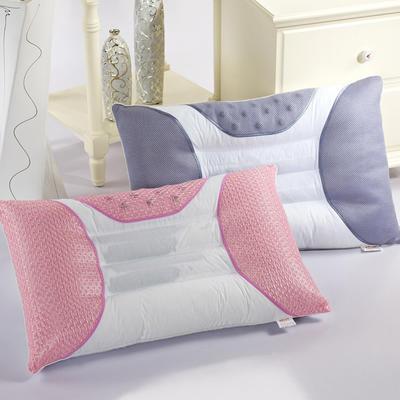枕芯 半磁疗决明子保健单人枕头芯(48*74) 粉色