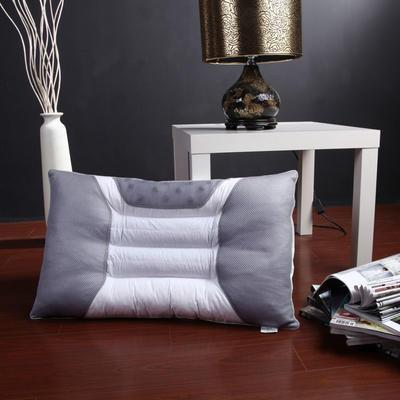 枕芯 半磁疗决明子保健单人枕头芯(48*74) 灰色