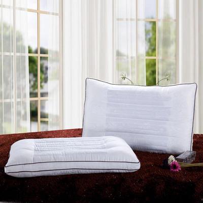 全棉枕芯 贡缎提花蚕丝决明子枕头木棉枕芯保健单人枕 贡缎提花蚕丝决明子枕
