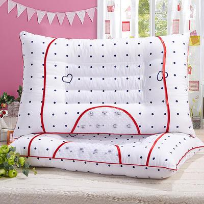 特价枕芯 红边甜心半磁疗枕头保健单人枕头枕芯 红边磁疗甜心枕
