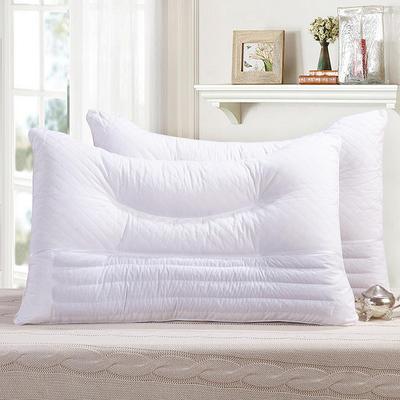 全棉枕芯 弧形绗绣荞麦枕头枕芯保健单人枕 弧形绗绣荞麦枕