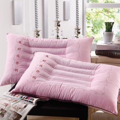 特价枕芯 角绣决明子枕头薰衣草荞麦茉莉花保健单人枕头芯 粉色茉莉花香枕