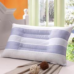仁宇枕业 蓝白条经典决明子保健枕头枕芯单人枕 ·蓝色经典决明子枕