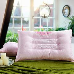 仁宇枕业  特惠珠光浆半磁疗保健枕头单人枕芯(48*74) 粉色