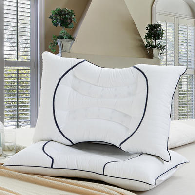 全棉枕芯 双U型决明子枕头磁疗护颈枕头保健枕芯单人枕 新款双U型决明子磁疗护颈枕