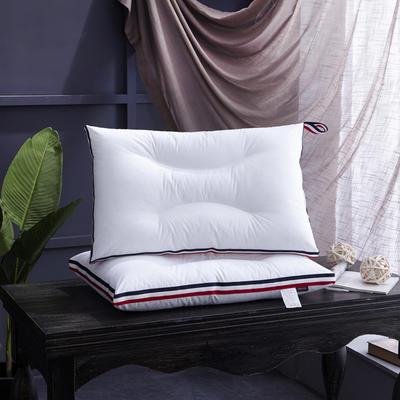 新款枕芯全棉枕头舒心护颈枕头芯羽丝绒单人枕可水洗枕 全棉舒心护颈枕