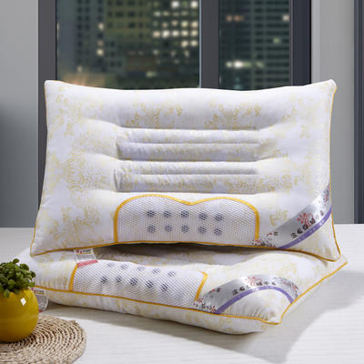 特价枕芯半磁疗保健定型蓝色枕头枕芯单人枕(42*70) 土豪金半磁疗