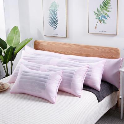 新款枕芯 粉色荞麦两用枕头羽丝绒长枕头双人枕头枕芯 粉色单人荞麦两用枕