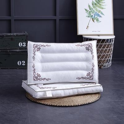 新款枕芯全棉枕头定型舒适枕头枕芯羽丝绒单人枕 咖色