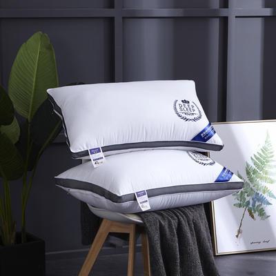 新款枕芯全棉枕头羽丝绒单人枕头枕芯可水洗枕 皇冠穗