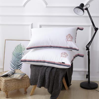 新款枕芯全棉枕头羽丝绒单人枕头枕芯可水洗枕 北欧风情羽丝枕