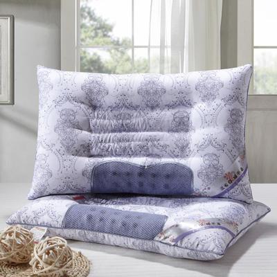 特价枕芯半磁疗保健定型蓝色枕头枕芯单人枕(42*70) 蓝色半磁疗