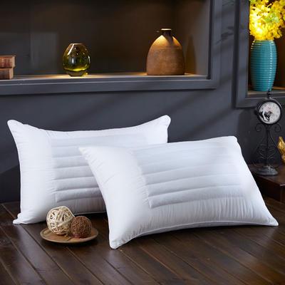 全棉枕芯荞麦两用枕头枕芯五星酒店羽丝绒单人枕 全棉荞麦两用枕