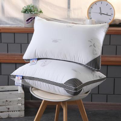 全棉枕芯 水洗鸟笼羽丝绒枕头 水洗鸟笼羽丝绒枕(48*74cm)/一个