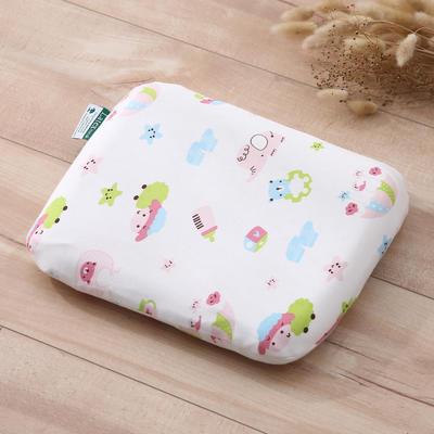 乳胶枕芯 婴儿定型乳胶枕头 其它 咩咩羊-粉25*29*5/个