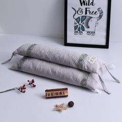 仁宇枕业  水洗棉二合一全荞麦枕头枕芯 典雅灰