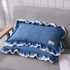 仁宇枕业  夹棉水洗棉全荞麦保健枕头枕芯 海洋蓝