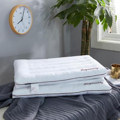 全棉枕芯酒店立体圆角单边羽丝绒低枕头枕芯 立体圆角单边低枕48*74cm/一只