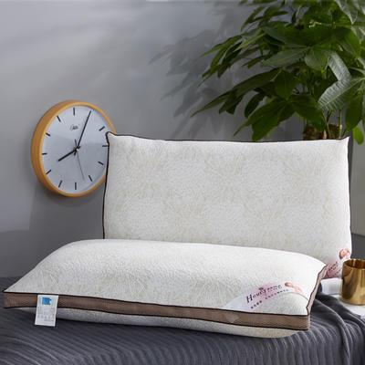 新款枕芯针织棉可水洗整张棉热熔枕头枕芯咖色款 咖啡边热熔枕48*74cm/一只