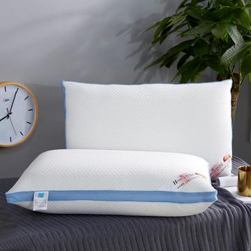 新款枕芯针织棉可水洗整张棉热熔枕头枕芯蓝色款