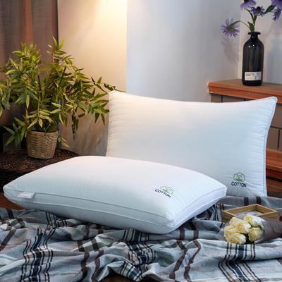 全棉枕芯绗绣可水洗整张棉热熔枕头枕芯绣花款 绣花款热熔枕48*74cm/一只