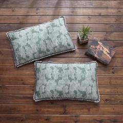 仁宇枕业 欧式花边全荞麦枕头枕芯 草绿色30*50/一个