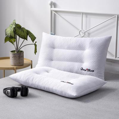 新款枕芯绣花单边针织棉碎乳胶枕头枕芯(40*60*10) 绣花单边针织棉碎乳胶枕