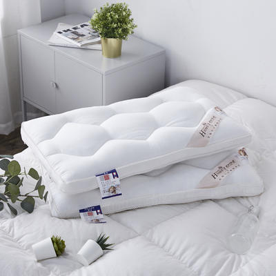 新款枕芯罗马棉羽丝绒定型枕头枕芯 白色48*74cm