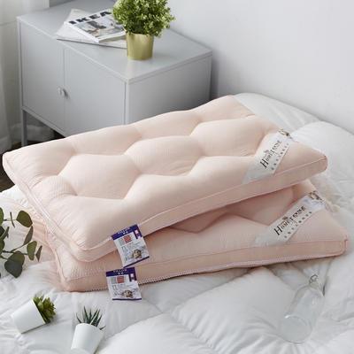 新款枕芯罗马棉羽丝绒定型枕头枕芯 橘色48*74cm