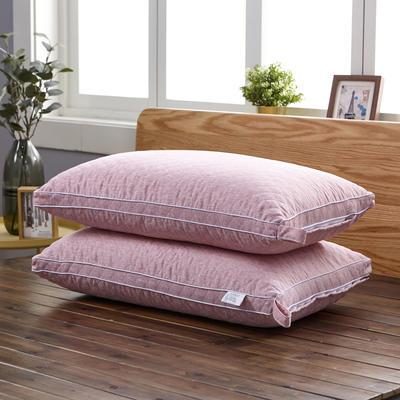 新款枕芯立体绗绣热熔水洗枕头枕芯 红色48*74cm/个