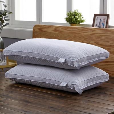 新款枕芯立体绗绣热熔水洗枕头枕芯 银灰色48*74cm/个