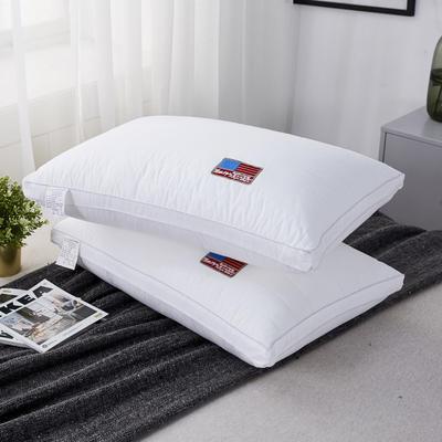 新款枕芯全棉立体酒店热熔水洗枕头枕芯美国旗 美国旗 48*74cm/个
