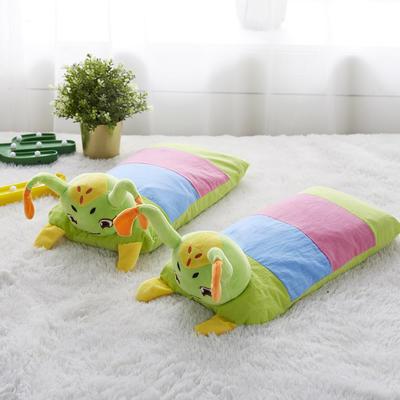 新款枕芯全棉立体卡通全荞麦儿童枕头枕芯 毛毛虫30*50cm/个