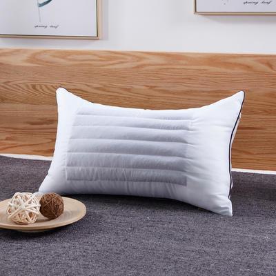 新款枕芯 粉色荞麦两用枕头羽丝绒长枕头双人枕头枕芯 白色 单人荞麦两用枕
