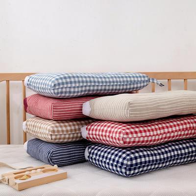 2019新款无暇款色织全棉水洗儿童枕头 枕套另加费