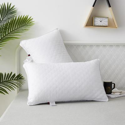 2019新款枕头 典雅款磨毛羽丝绒枕芯-48*74cm/个 白色