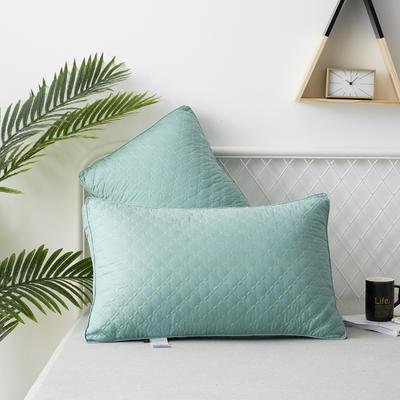 2019新款枕头 典雅款磨毛羽丝绒枕芯-48*74cm/个 绿色