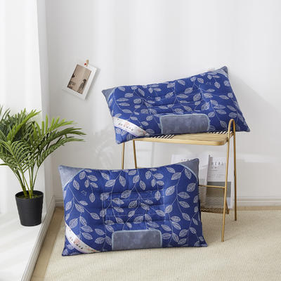 2019新款枕头 特惠枫叶磁石枕芯-46*72cm/个 蓝色