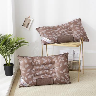 2019新款枕头 特惠枫叶磁石枕芯-46*72cm/个 深咖色