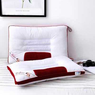 2019新款枕芯 立体蜂窝网按摩枕头-48*74cm/个 红色
