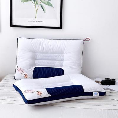 2019新款枕芯 立体蜂窝网按摩枕头-48*74cm/个 蓝色