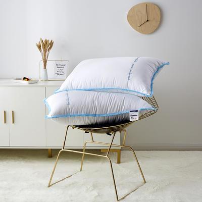 2019新款枕芯 流苏款羽丝绒枕头-48*74cm/个 蓝色