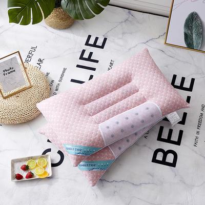 2019新款枕芯 五彩水立方决明子磁石枕头-48*74cm/个 粉色