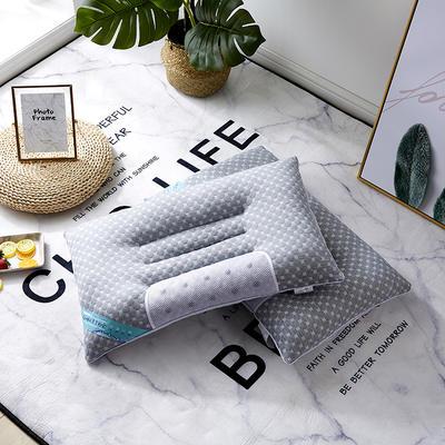 2019新款枕芯 五彩水立方决明子磁石枕头-48*74cm/个 灰色
