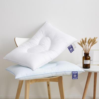 2019新款枕芯 心心相印羽丝定型枕头-48*74cm/个 蓝色
