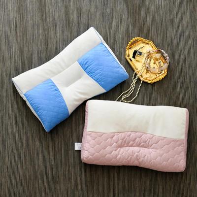 2020新款枕头 恬静款PE软管枕芯-35*55*7cm/个 蓝色
